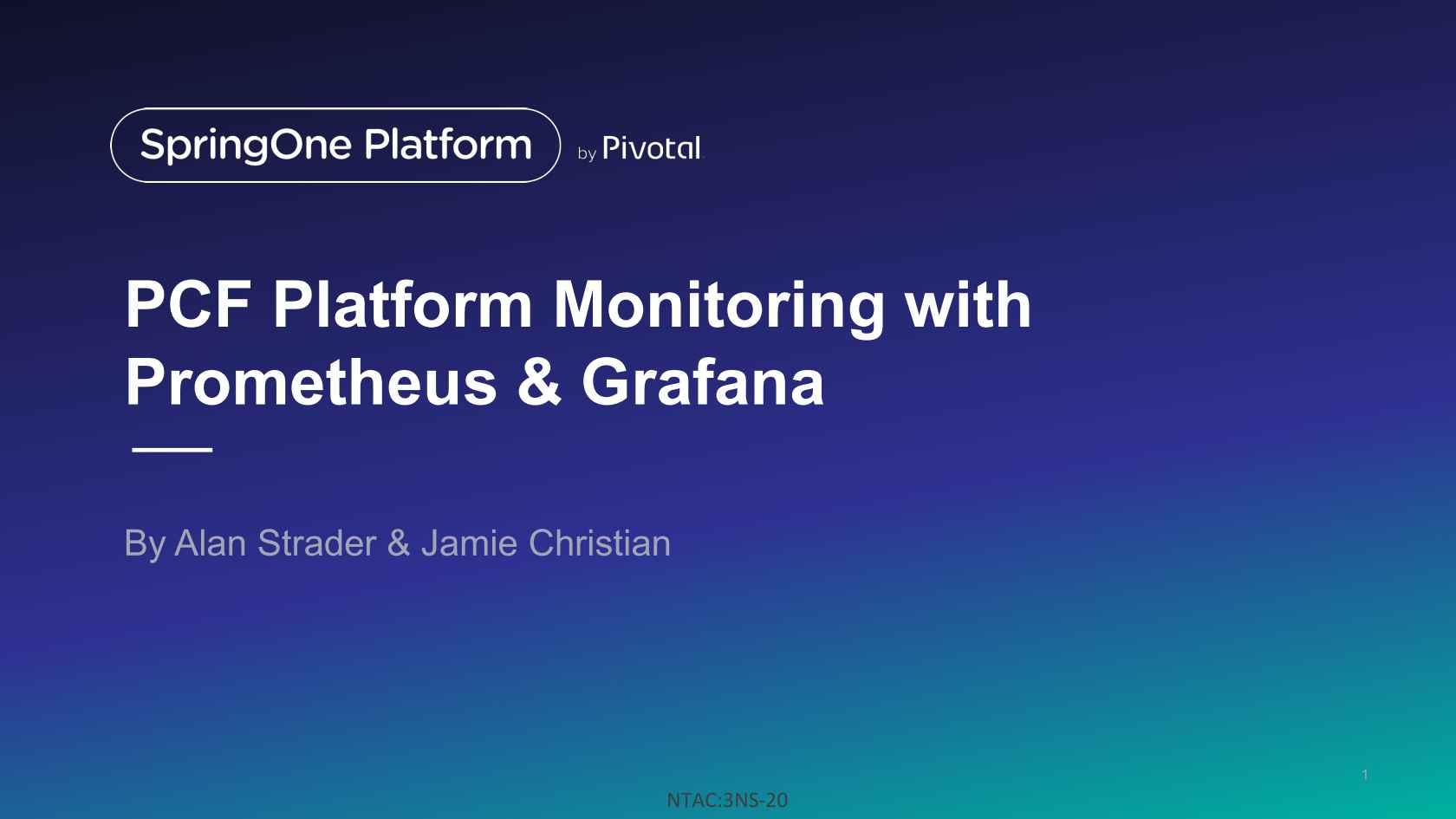 PCF Platform Monitoring with Prometheus and Grafana