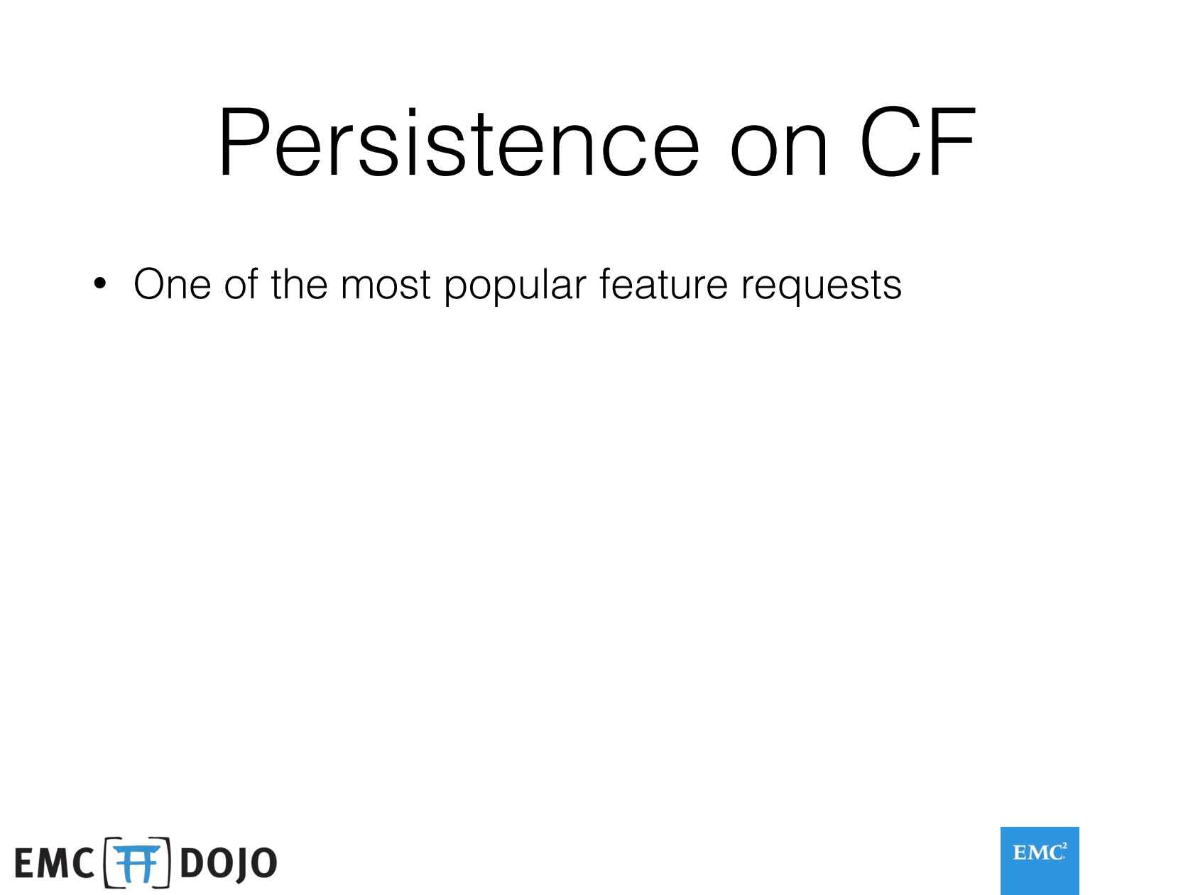 Persistence Arrives on Cloud Foundry