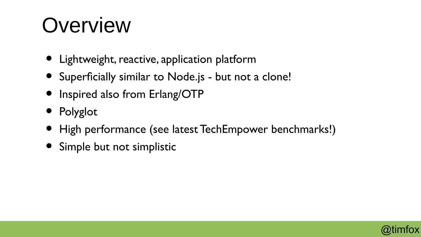 High Performance Reactive Applications with Vert x