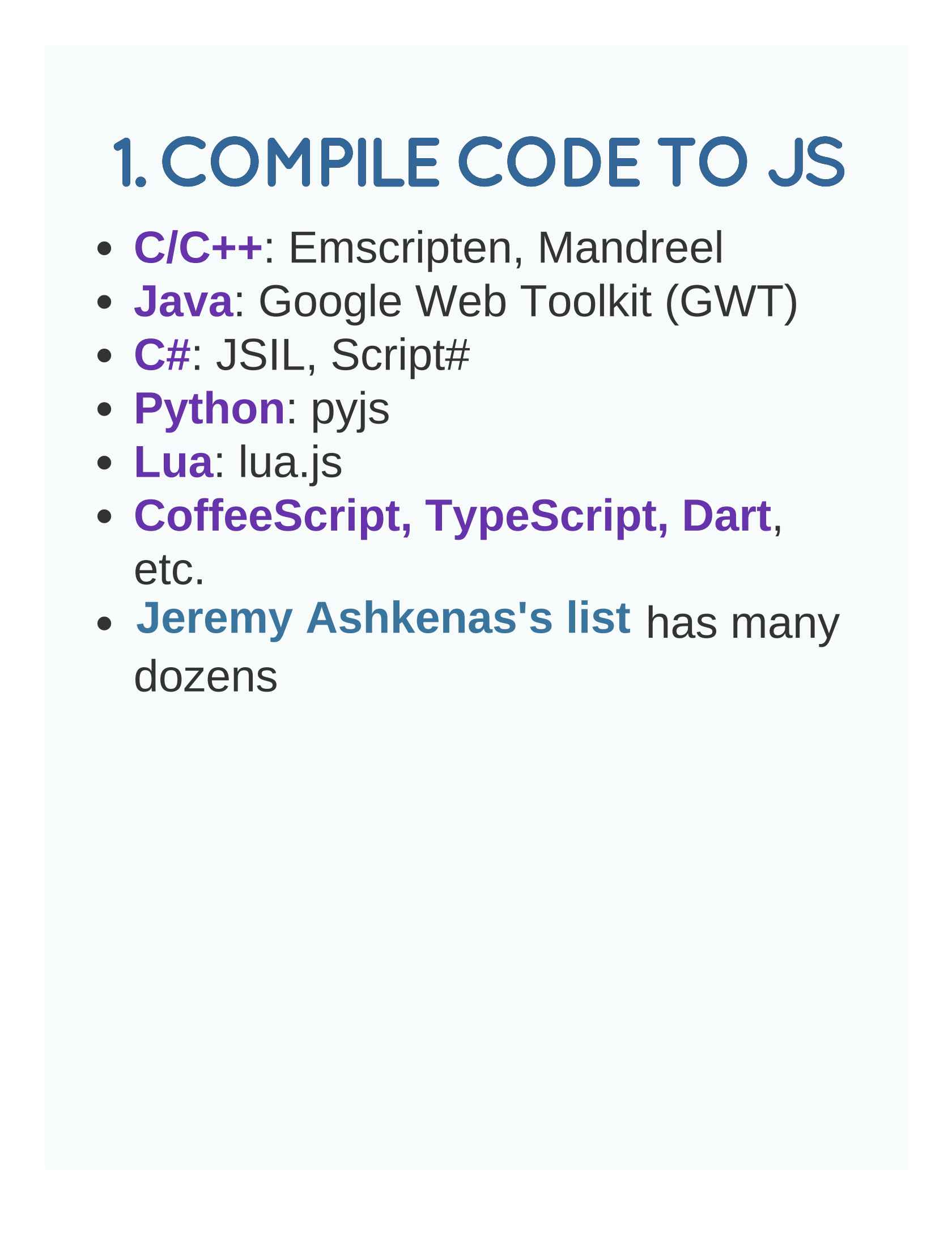 Combining JavaScript with Other Languages on the Web