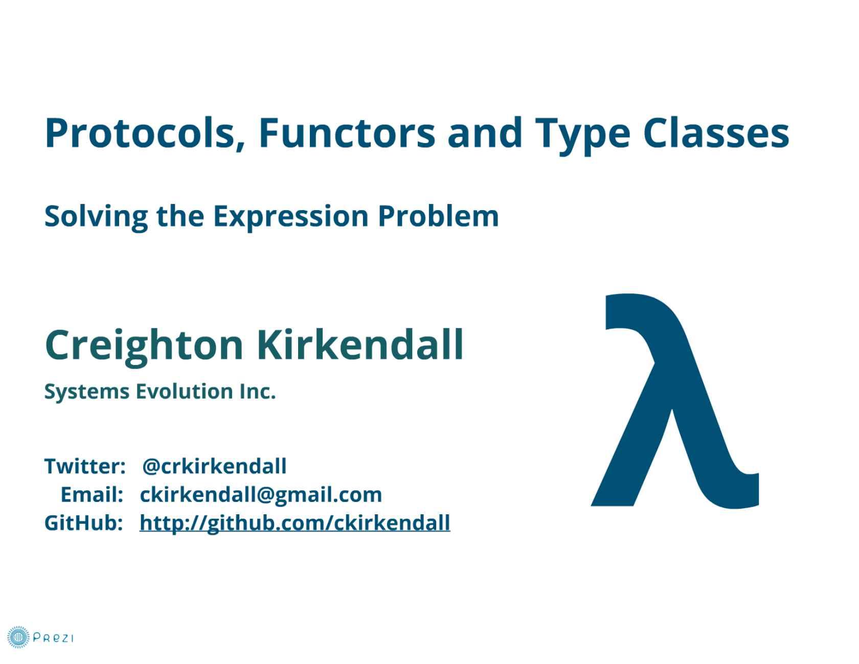Protocols, Functors and Type Classes