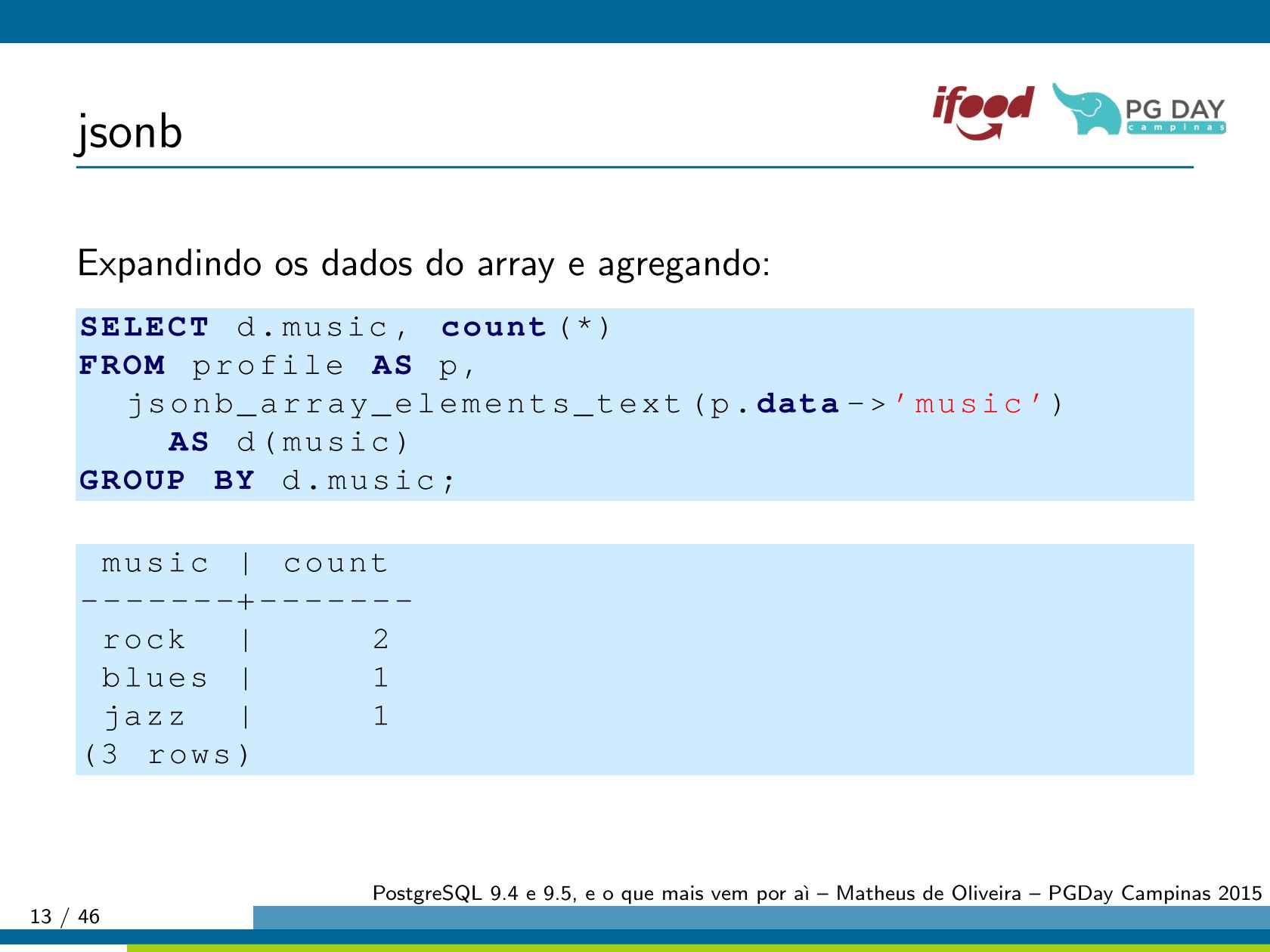 PostgreSQL 9 4 e 9 5, e o que mais vem por aí…