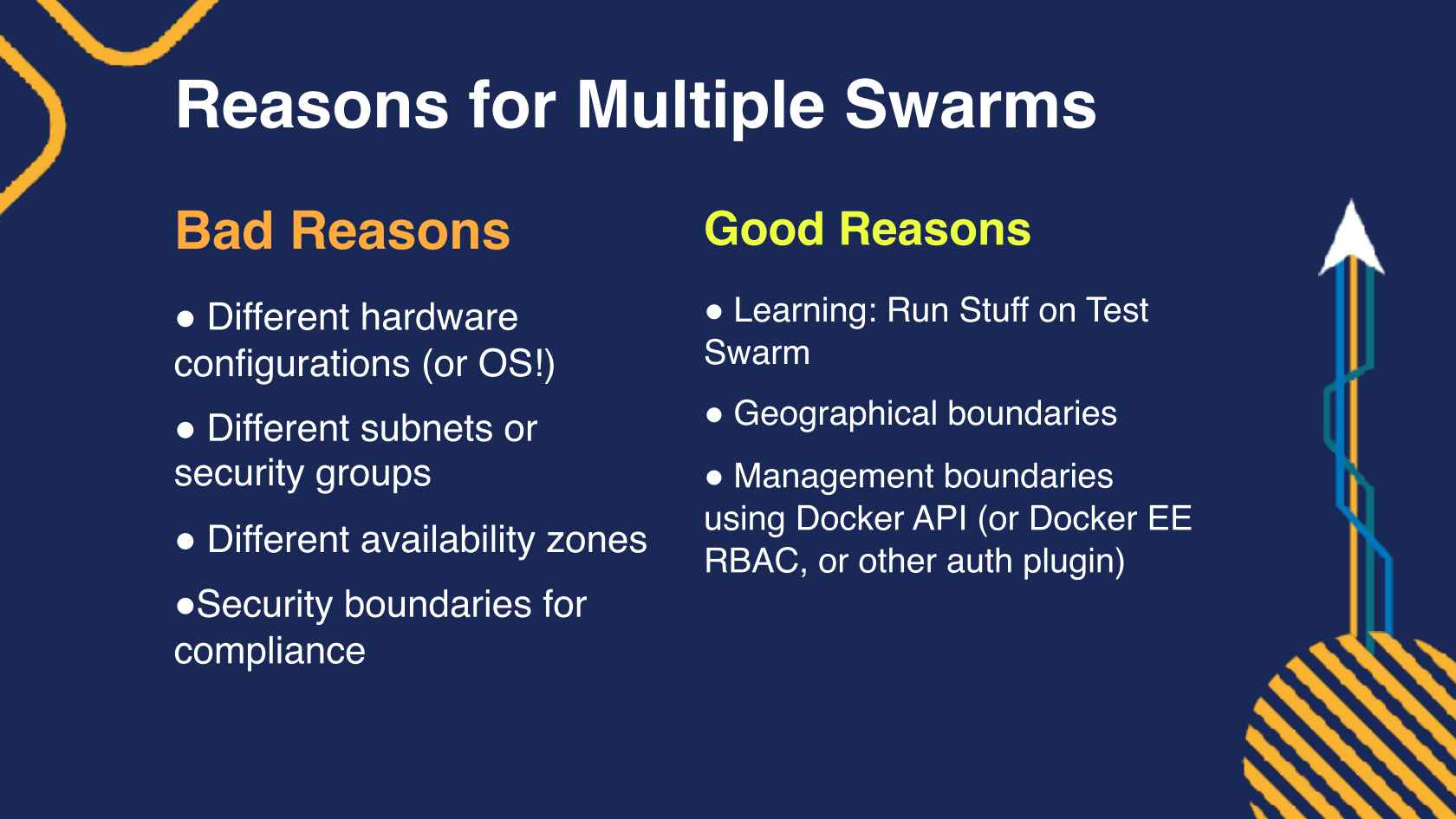 Going Production with Docker and Swarm