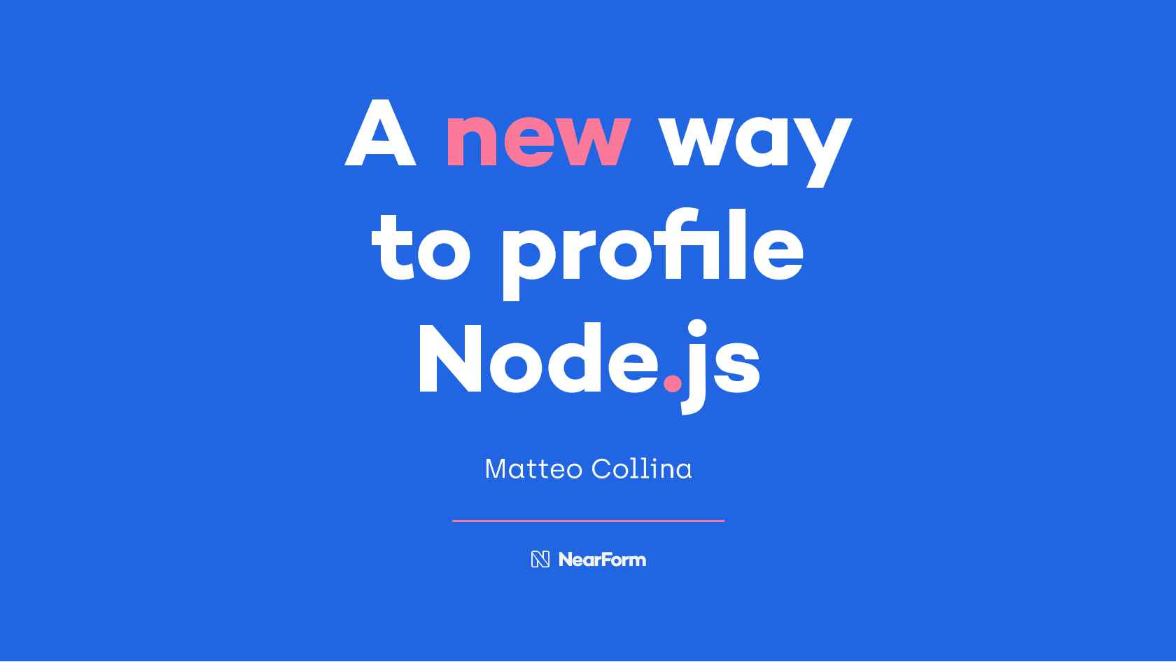 A New Way to Profile Node js
