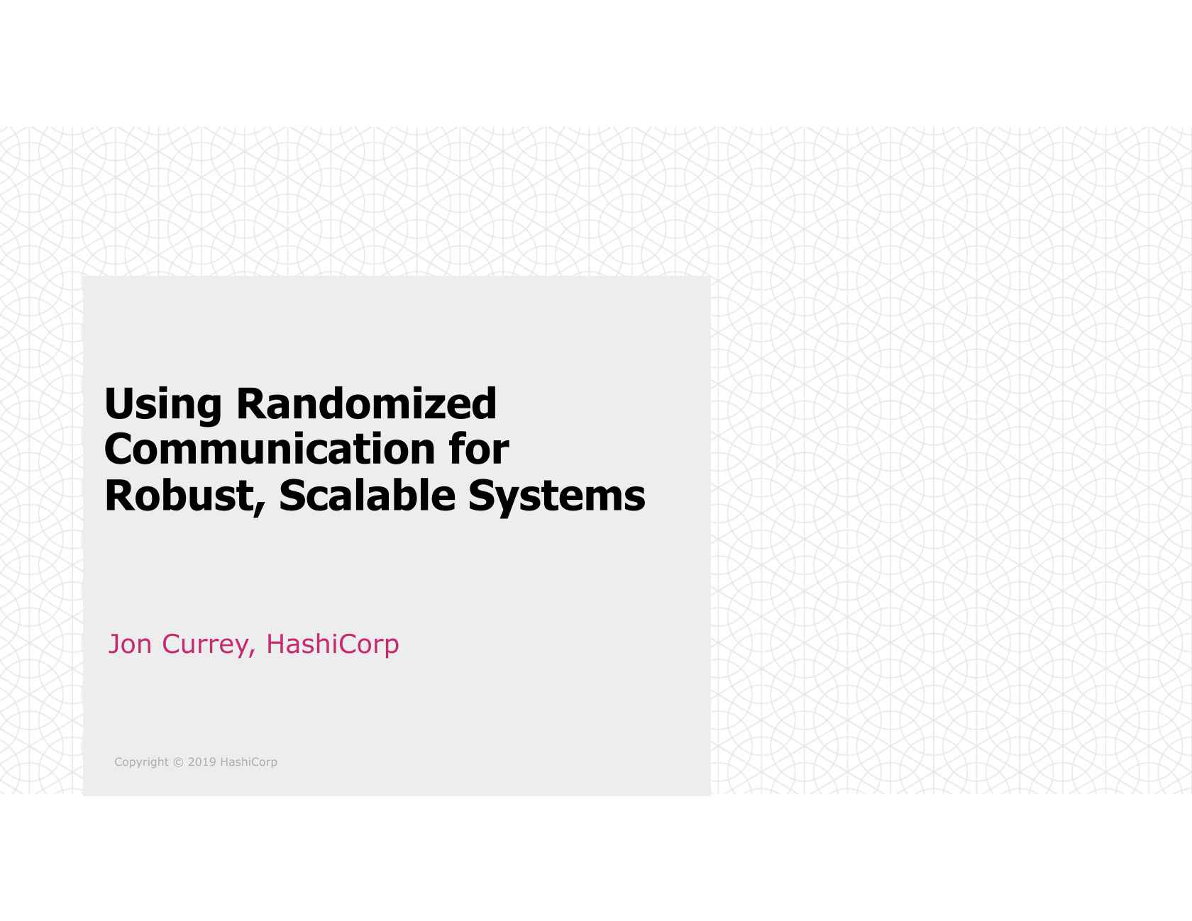 Using Randomized Communication for Robust, Scalable Systems