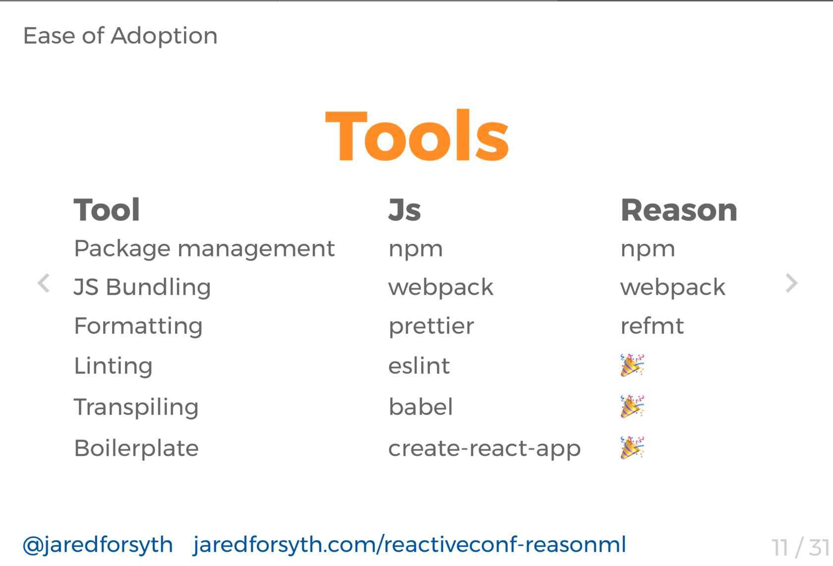 Reason: JavaScript-Flavored OCaml