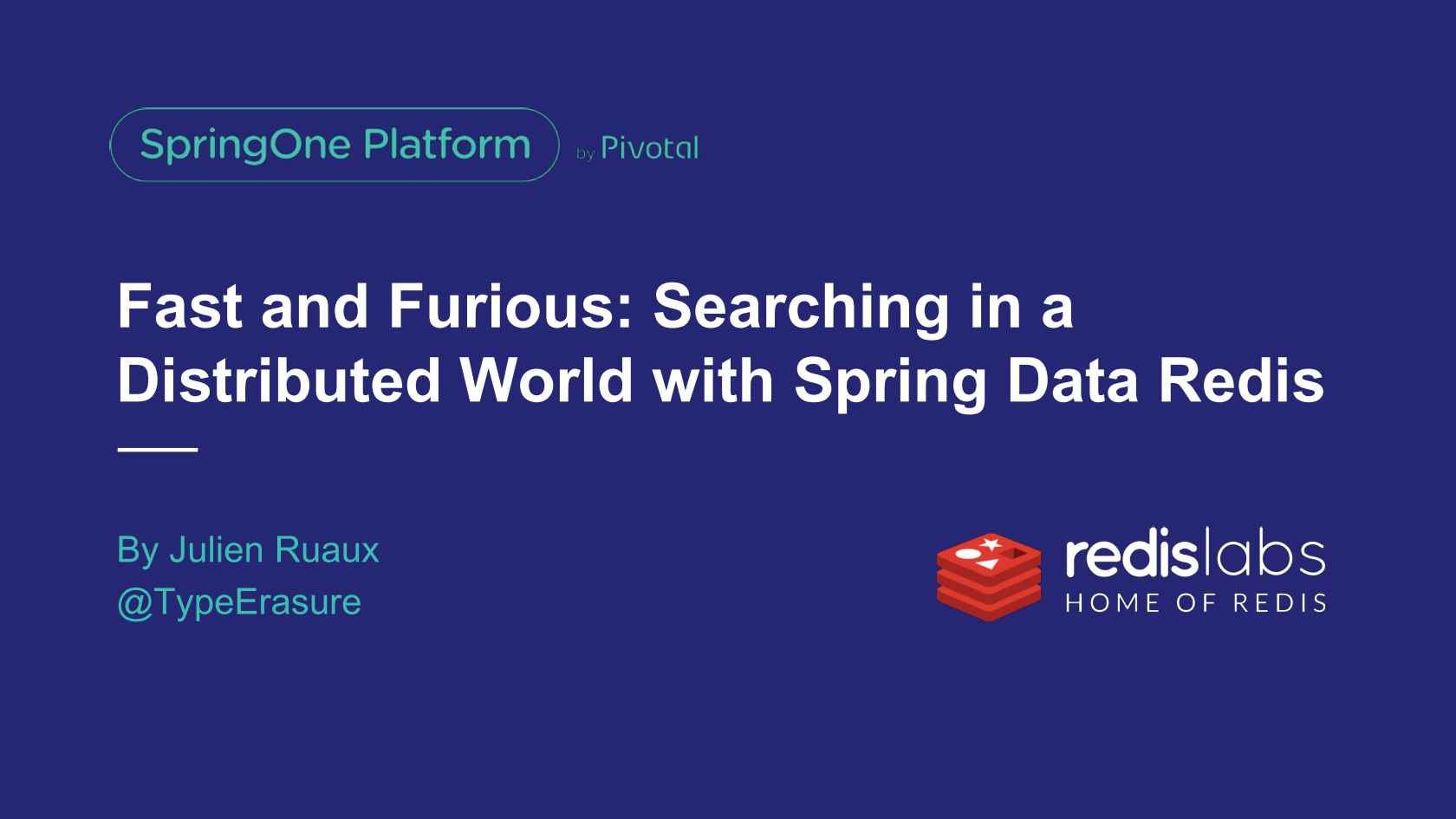 Fast and Furious: Searching in a Distributed World with Highly