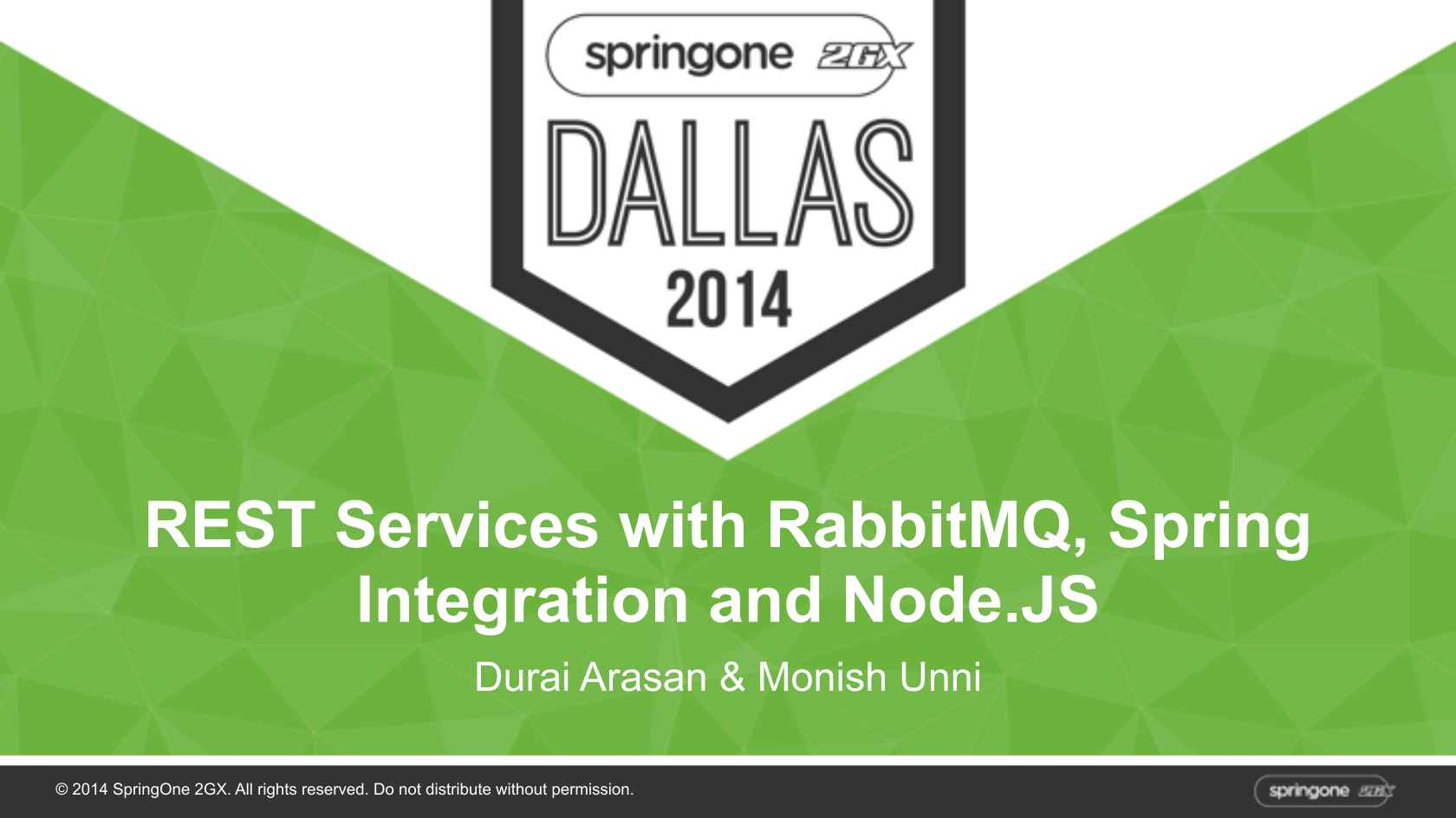 REST Services with RabbitMQ, Spring Integration and Node JS