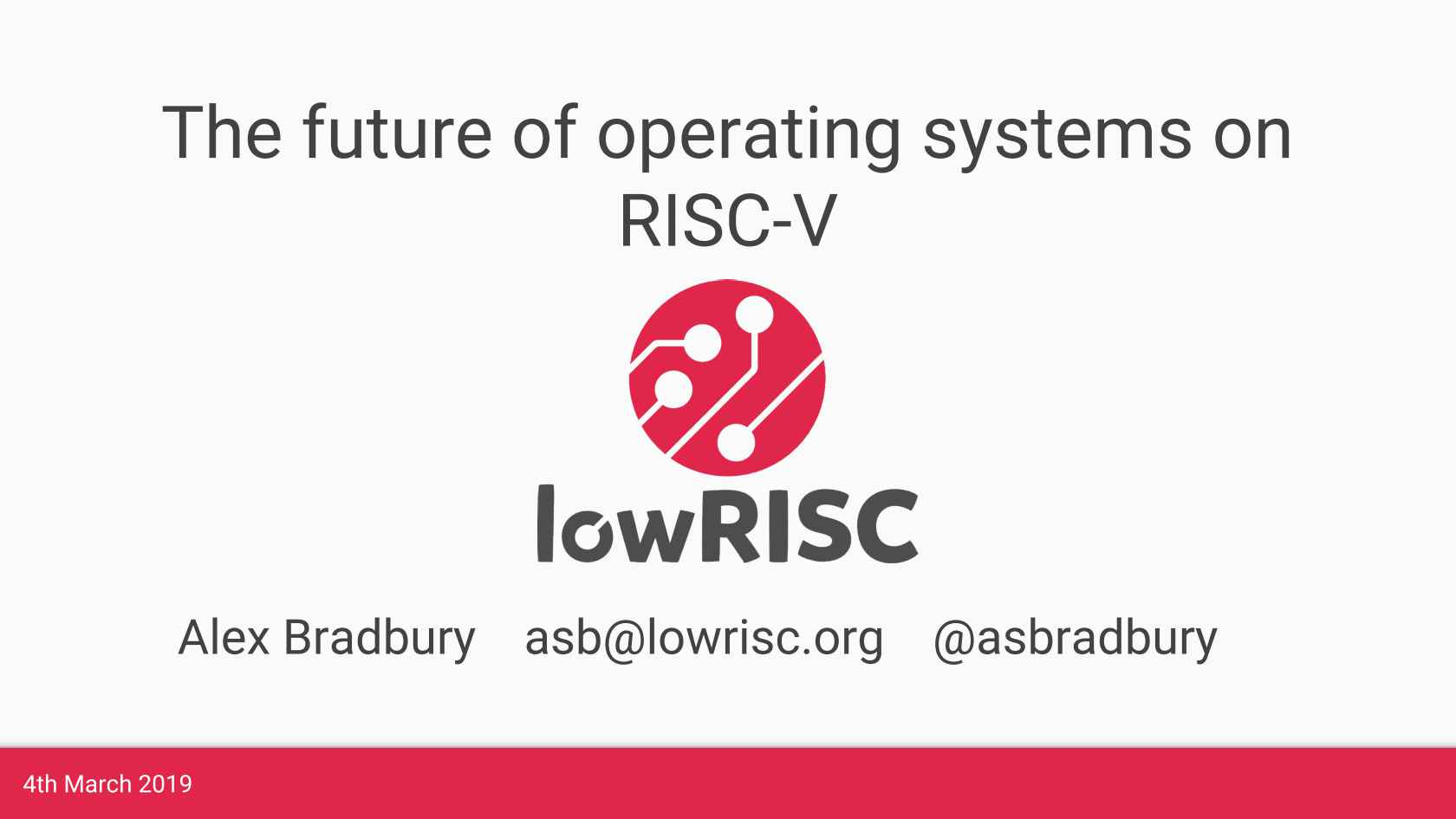 The Future of Operating Systems on RISC-V