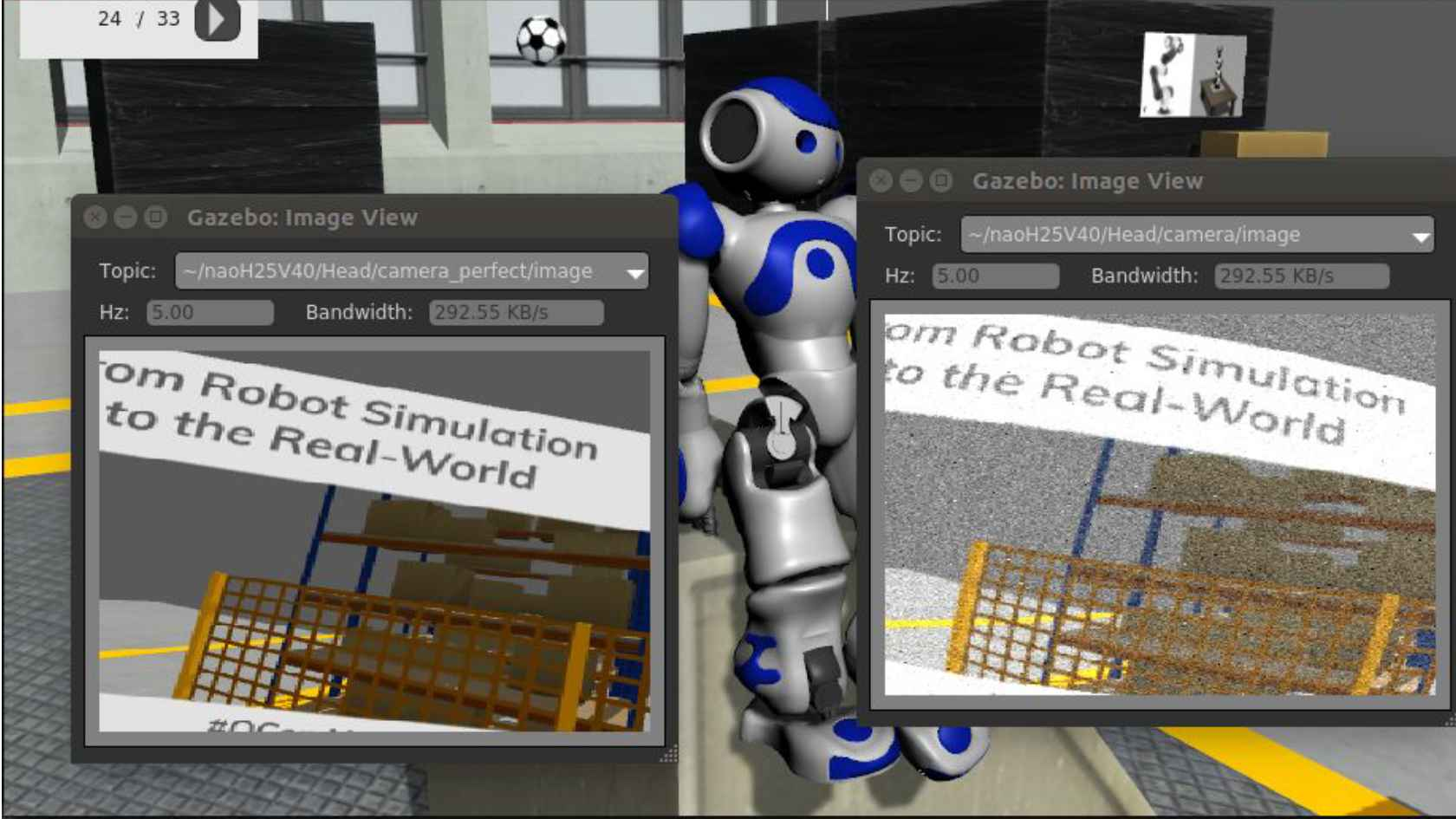 From Robot Simulation to the Real World