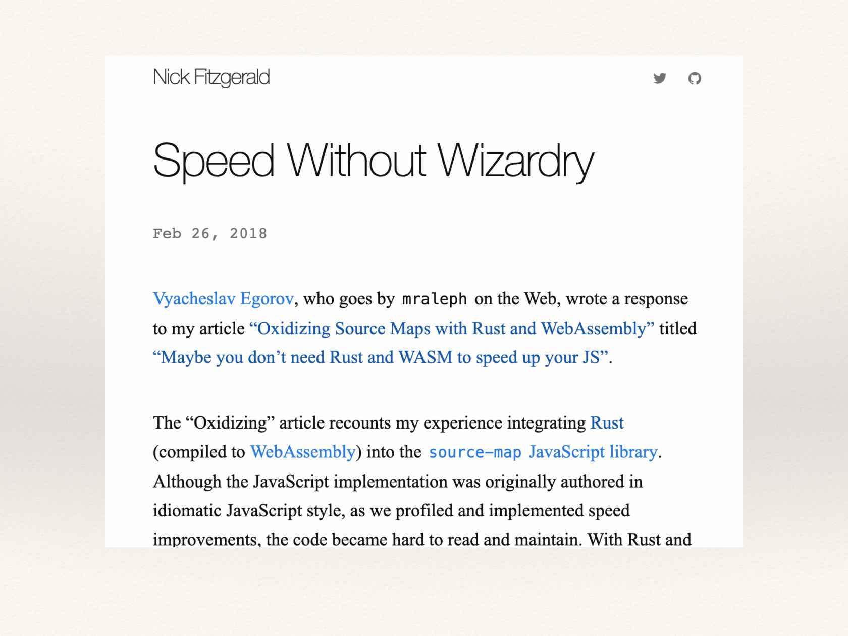 Rust, WebAssembly, and Javascript Make Three: An FFI Story