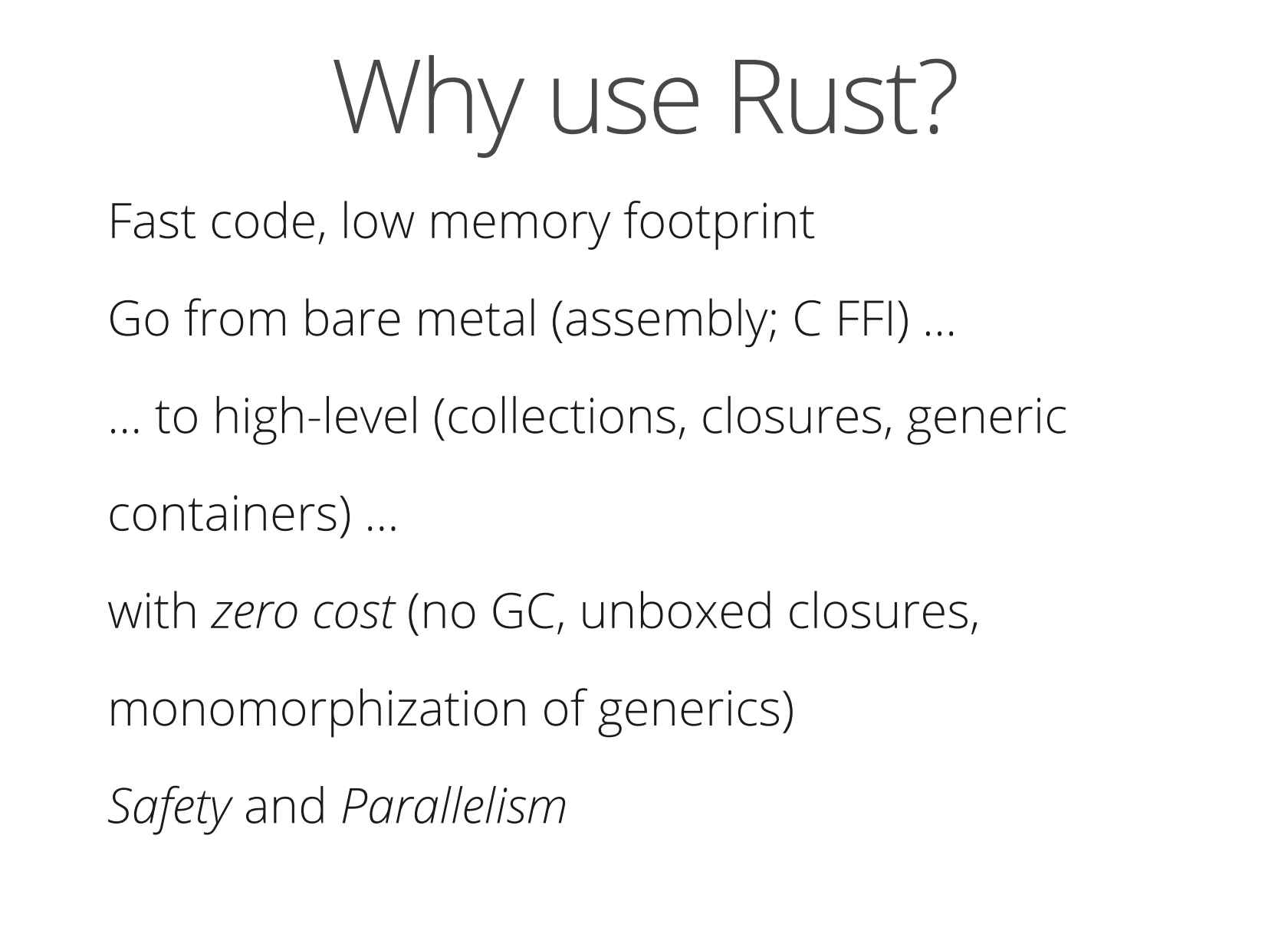 Rust: Systems Programming for Everyone