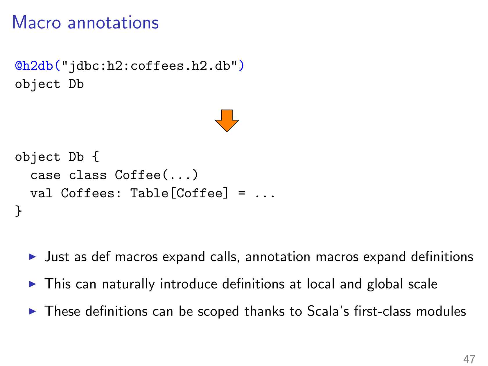 Evolution of Scala Macros