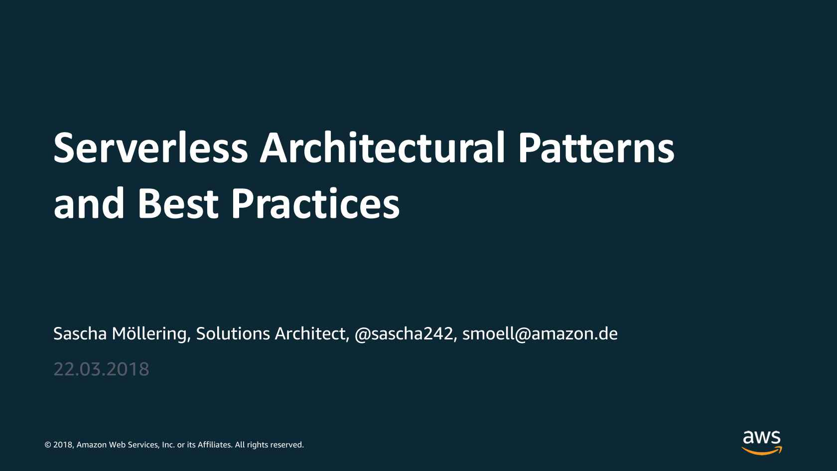 Serverless Architectural Patterns and Best Practices