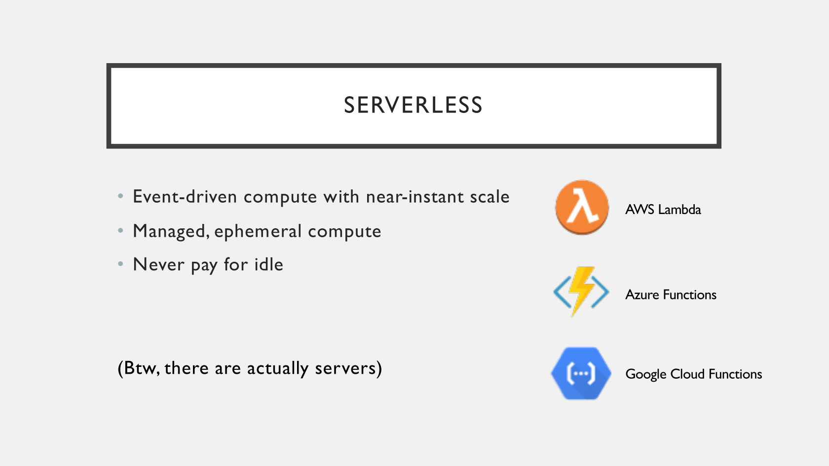 Serverless + Containers = Modern Cloud Applications