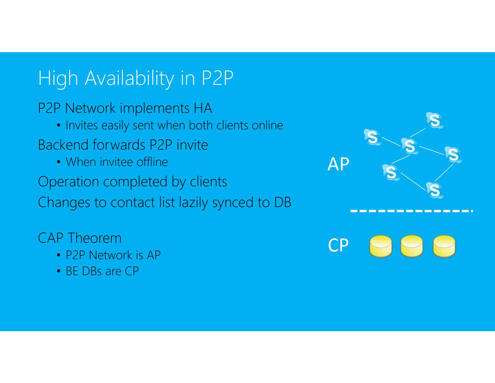 Skype's Journey from P2P: It's Not Just about the Services
