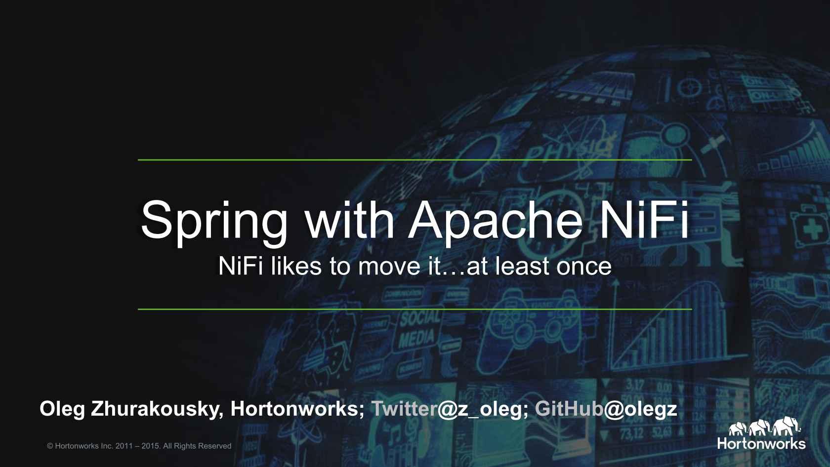Spring with ApacheNiFi