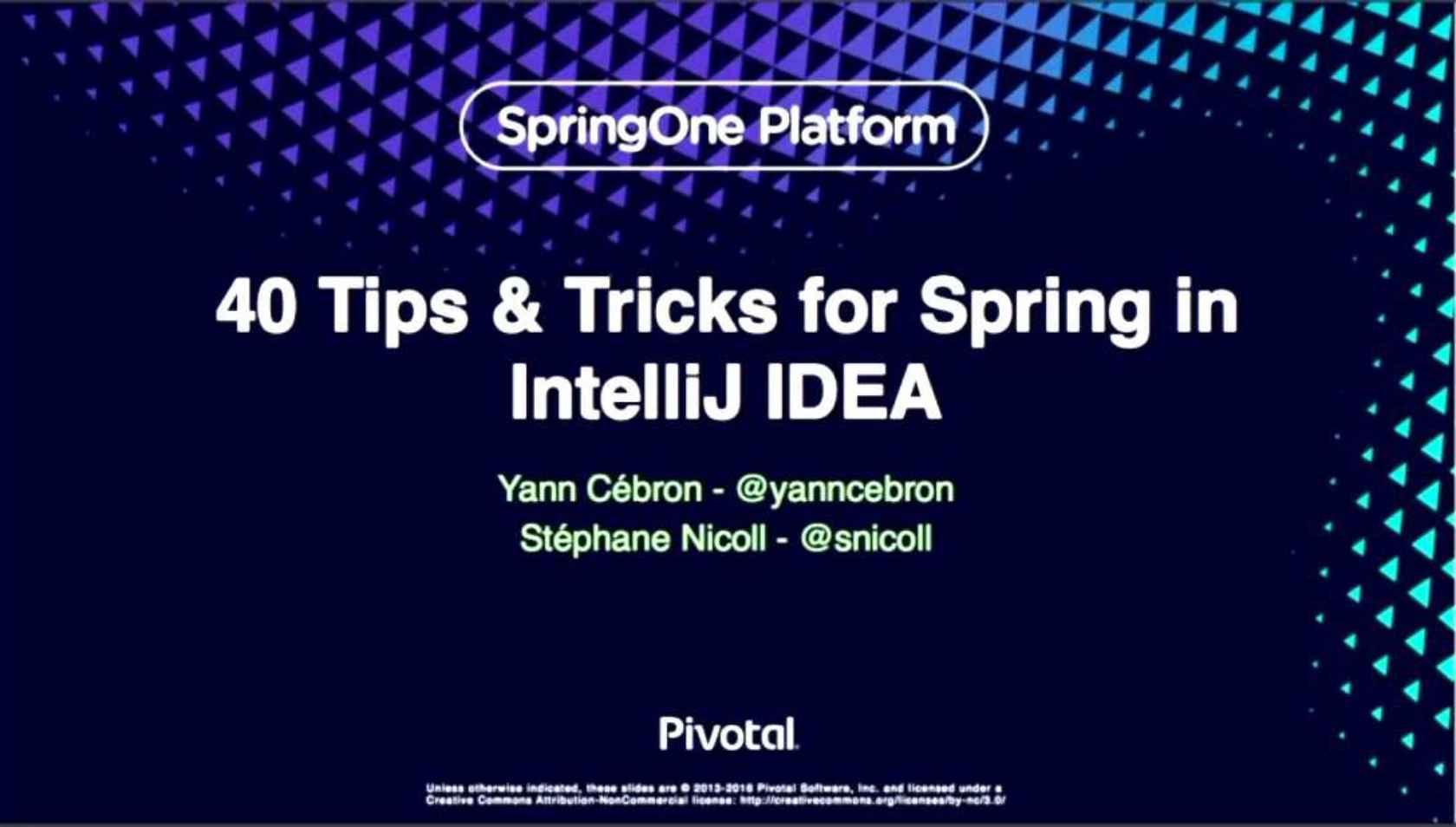 40 Tips & Tricks for Spring in IntelliJ IDEA