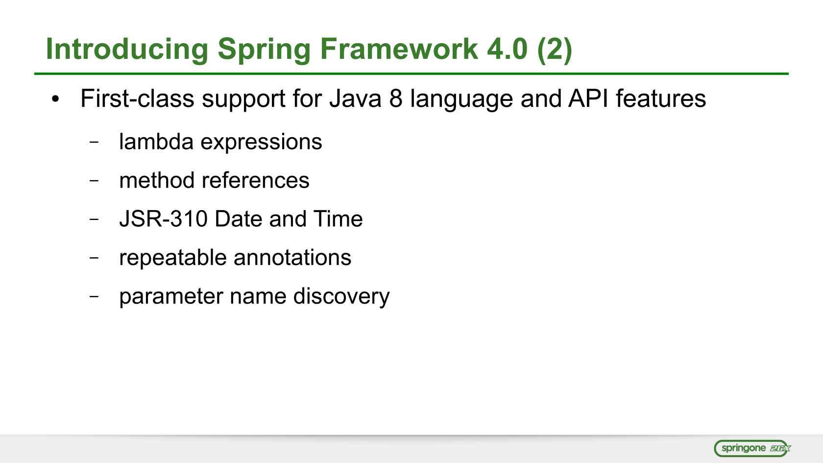 Spring on Java 8
