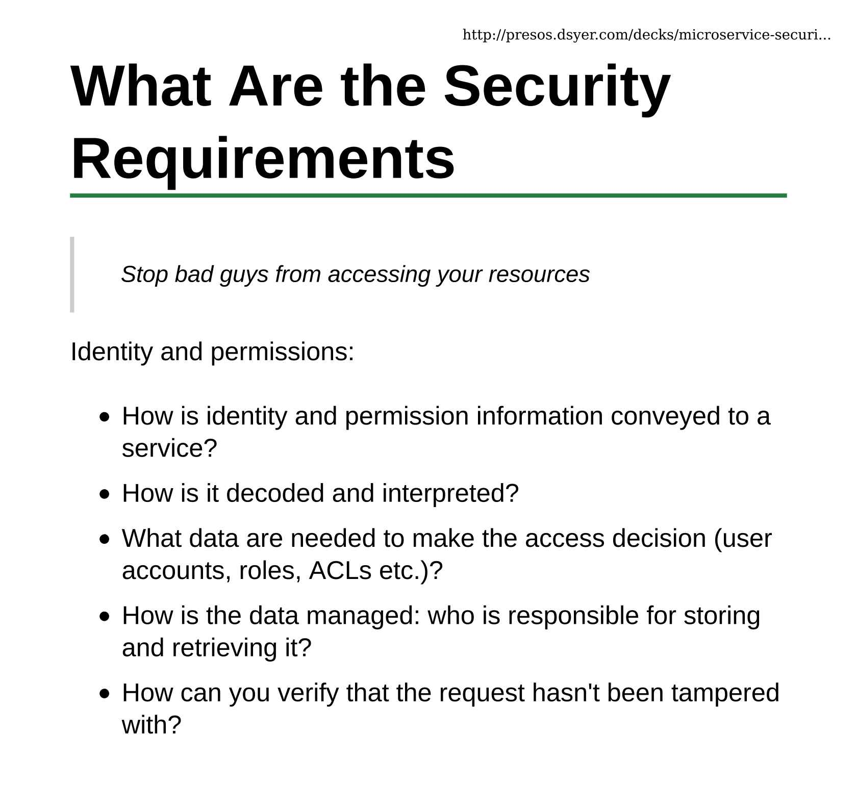 Security for Microservices with Spring and OAuth2