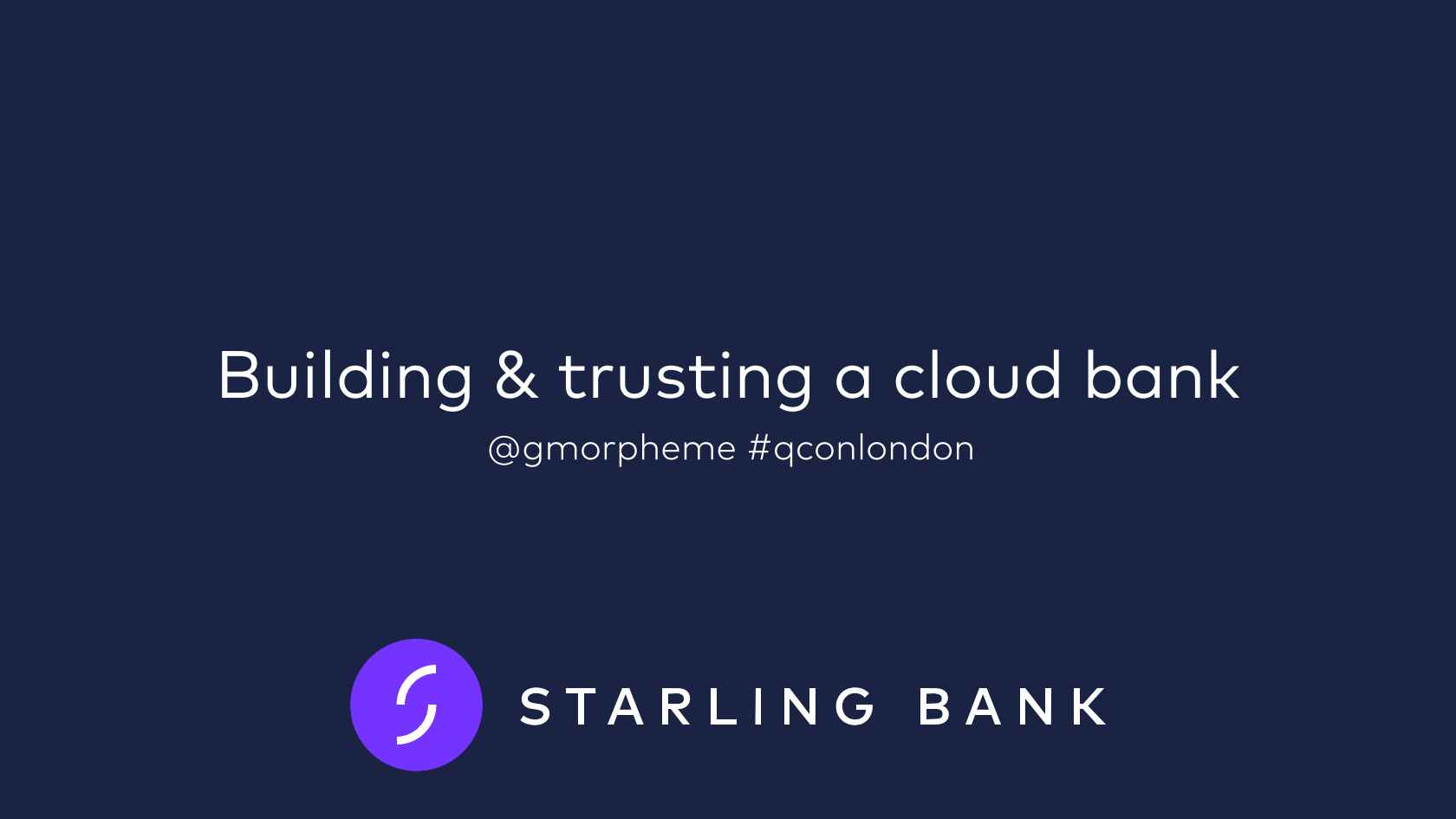 Building and Trusting a Cloud Bank
