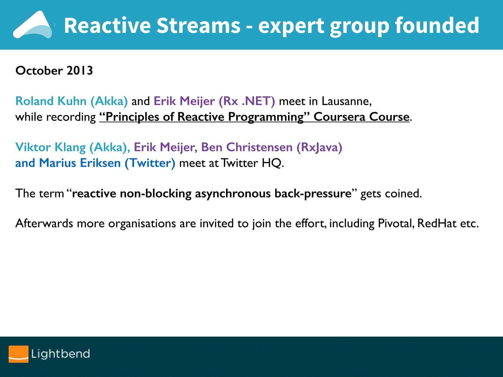 Reactive Streams, j u concurrent, & beyond!