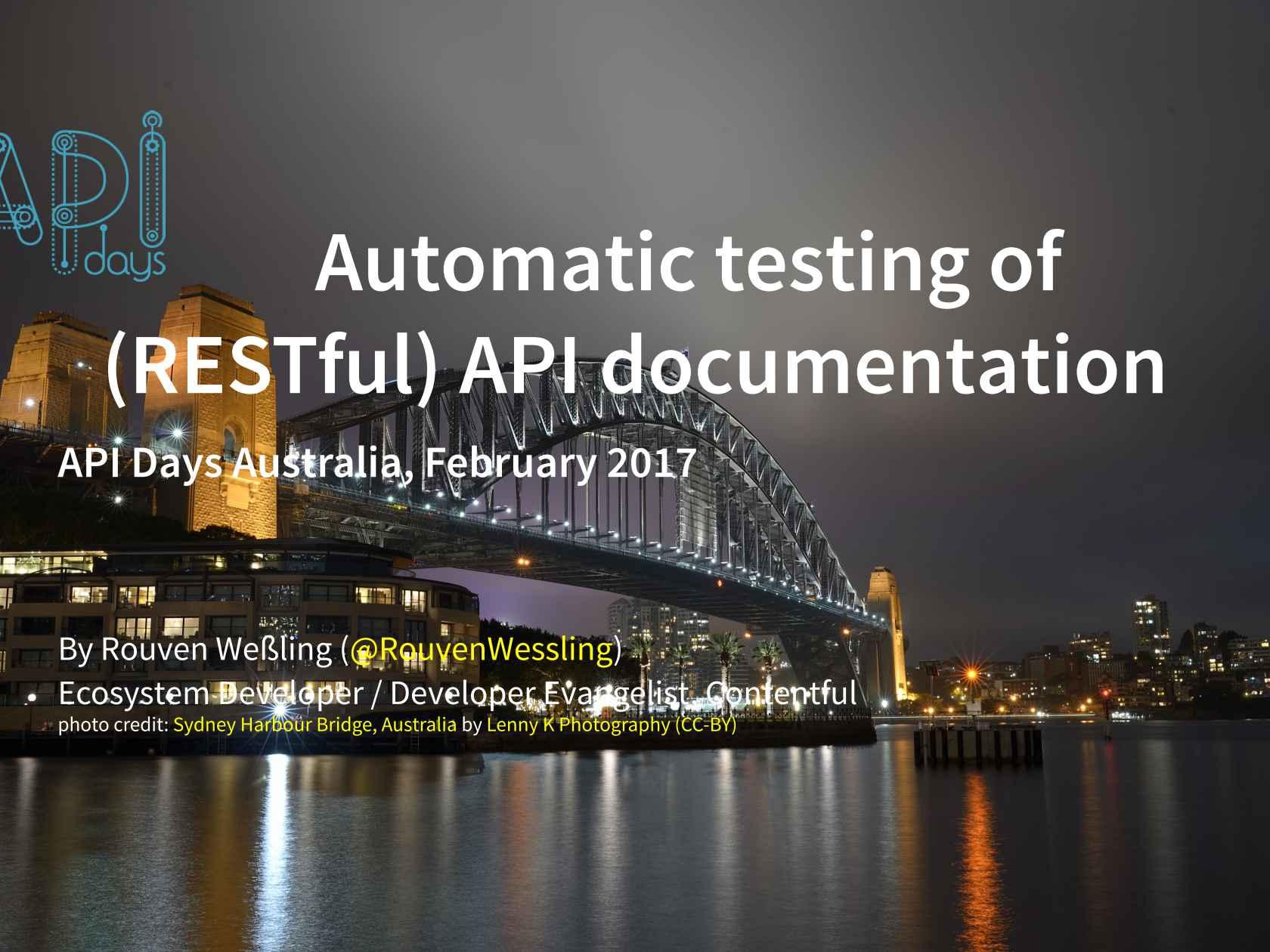 Automated testing of restful api documentation malvernweather Choice Image