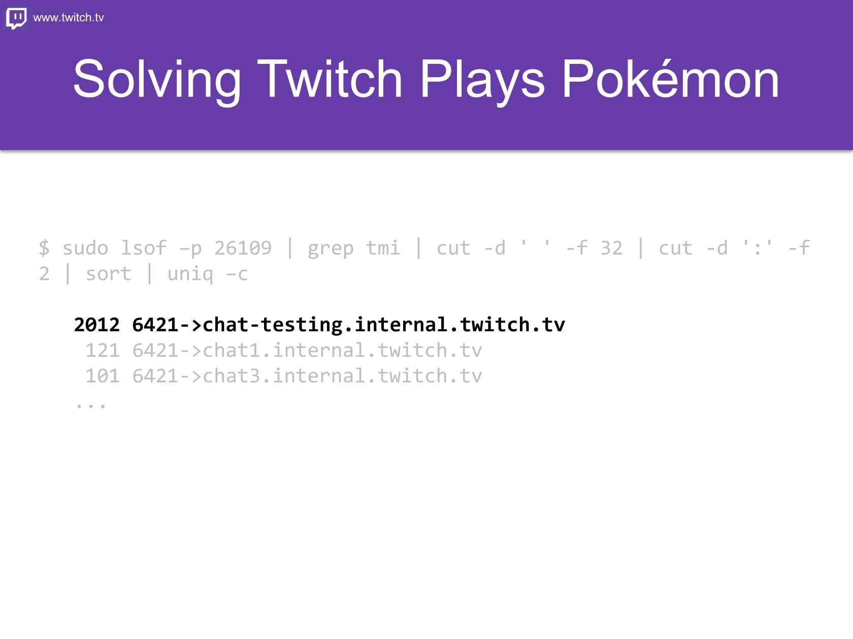 Twitch Plays Pokémon: Twitch's Chat Architecture