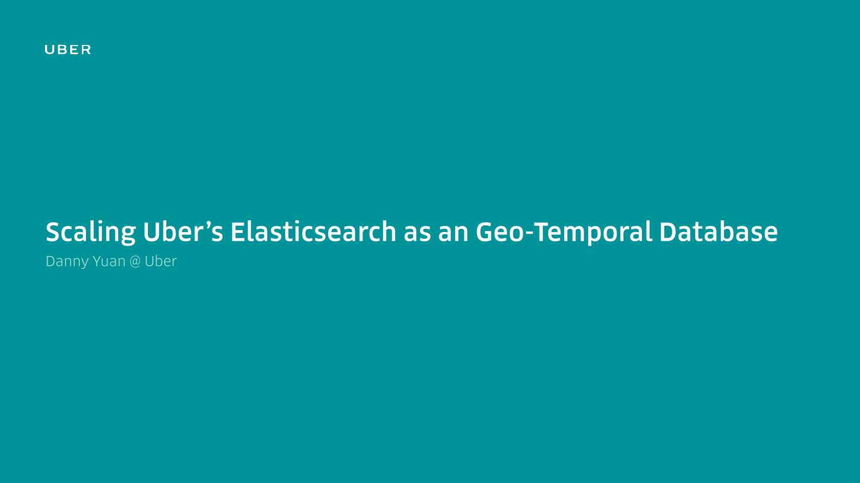 Scaling Uber's Elasticsearch Clusters