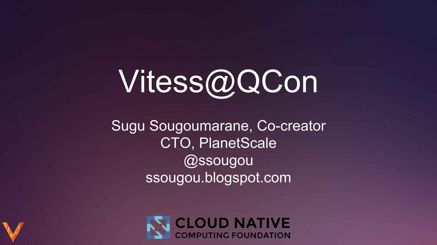 Massively Scaling MySQL Using Vitess