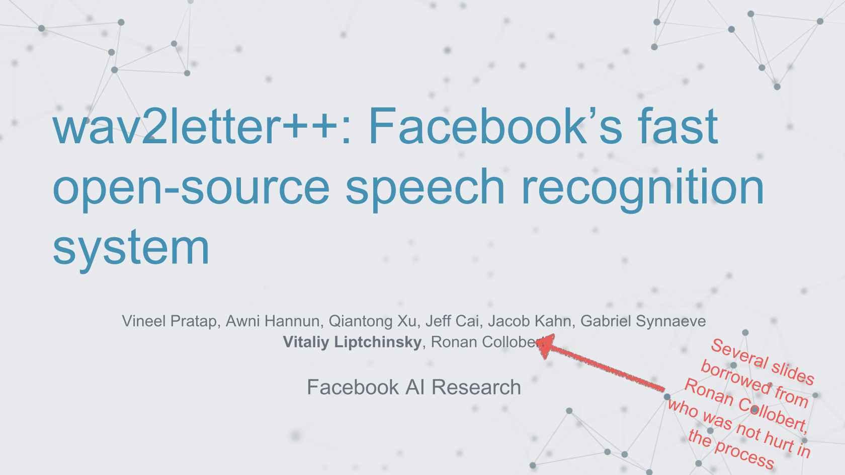 wav2letter++: Facebook's Fast Open-Source Speech Recognition