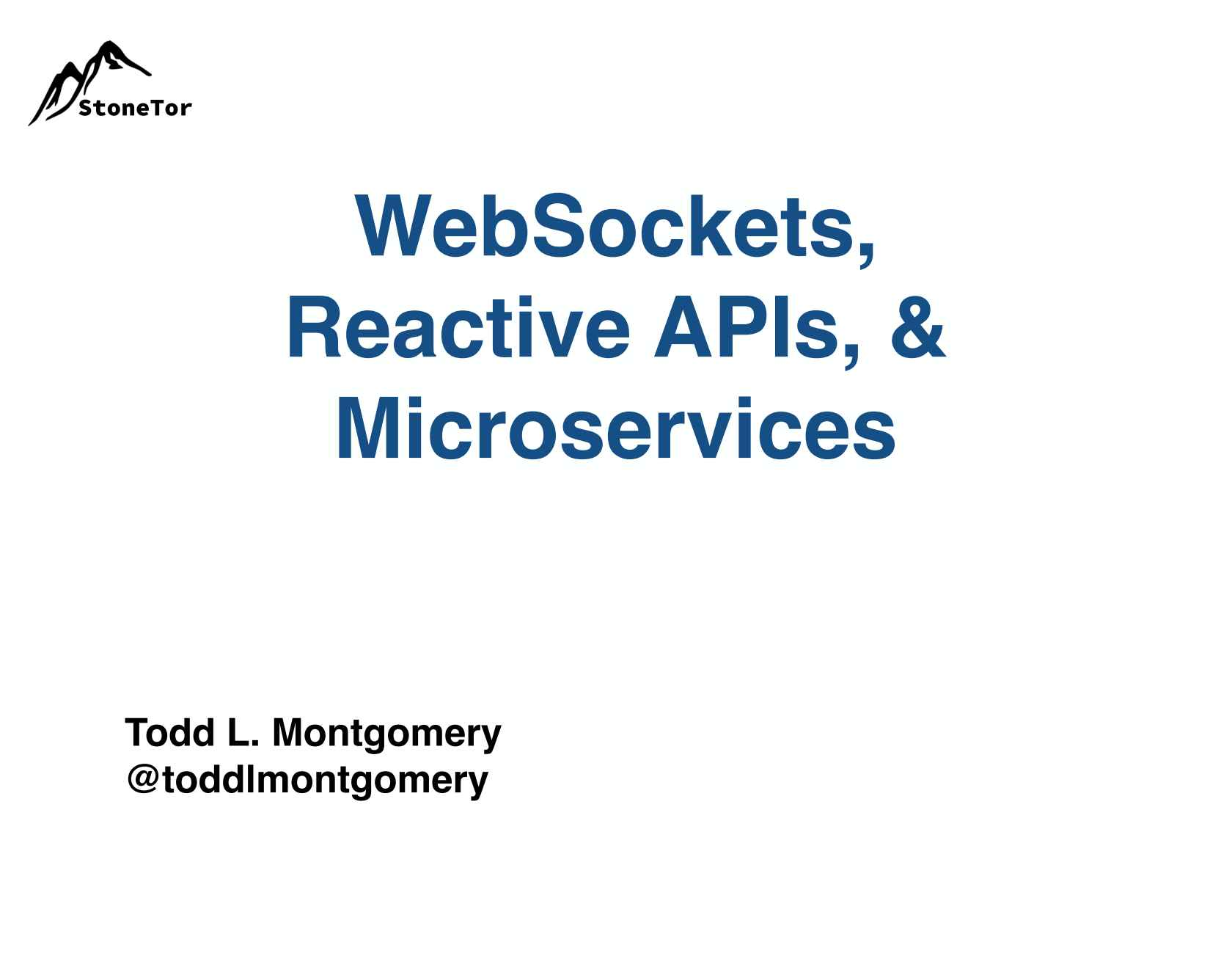 WebSockets, Reactive APIs and Microservices