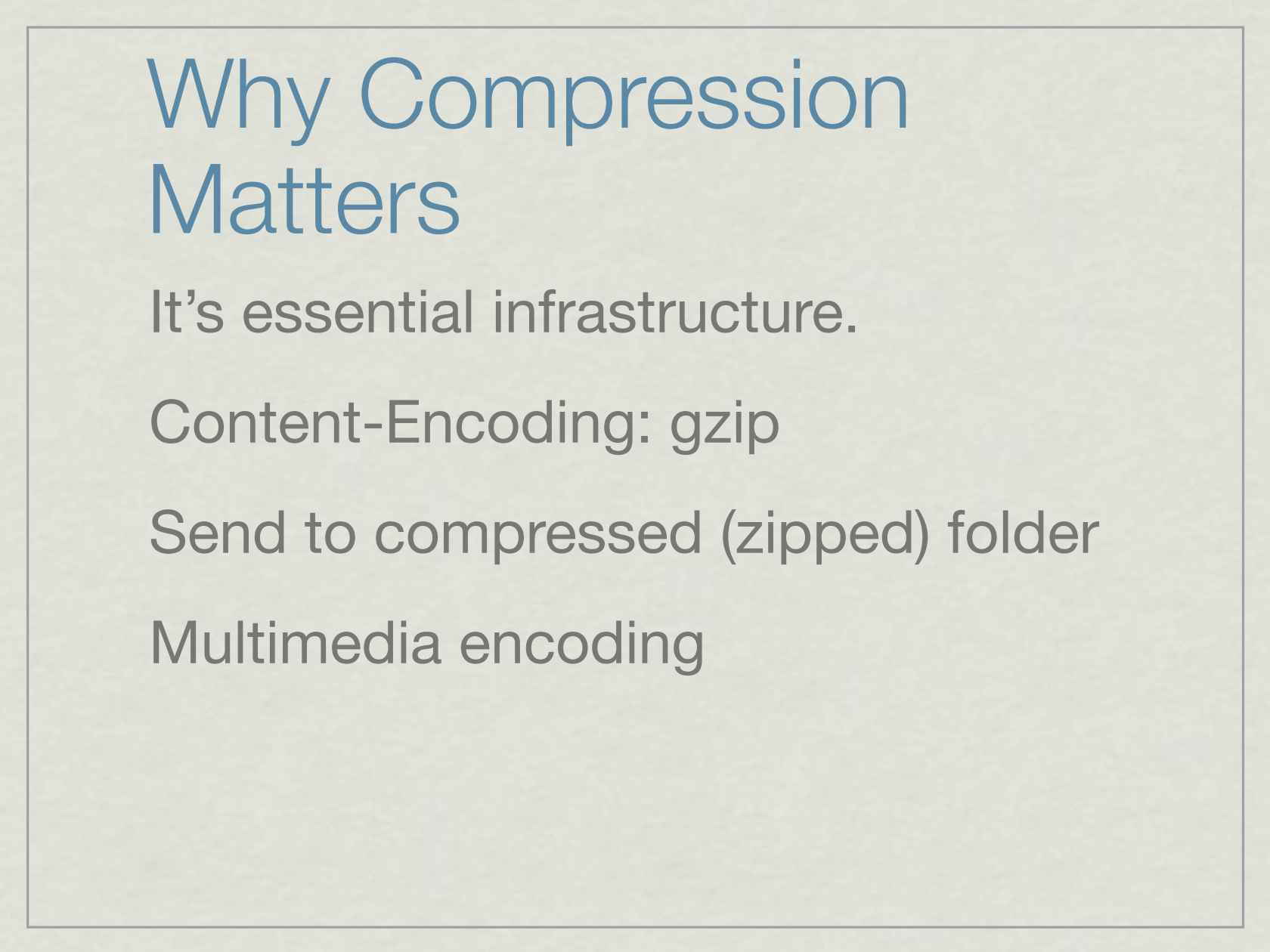 zip Code: Unpacking Data Compression